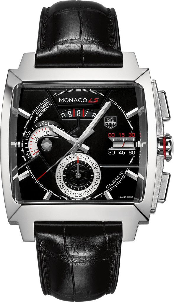 TAG Heuer Watch Monaco Chronograph dial-colour-black luxury movement-automatic water-resistant-100m