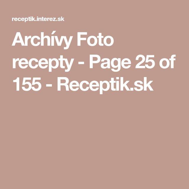 Archívy Foto recepty - Page 25 of 155 - Receptik.sk