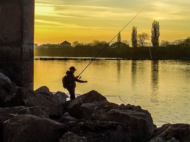 #fishing #sunset #mures  #targumures