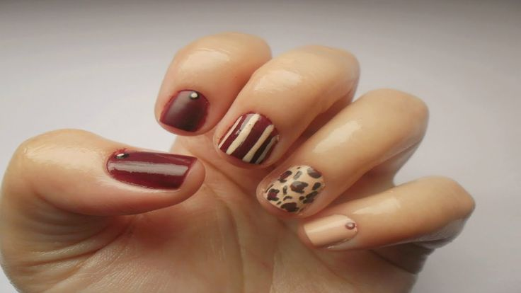 Simply Nails ▎❝Burgundy Mix and Match❞