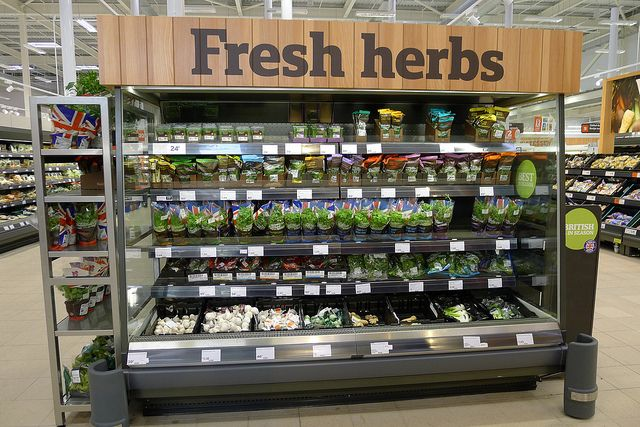 Fresh herbs by J Sainsbury, via Flickr