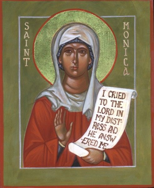 St Monica is considered the patron saint of mothers, abuse victims, wives and alcoholics.