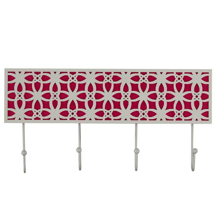Crochets muraux avec motif floral tag res et crochets for Crochets muraux ikea
