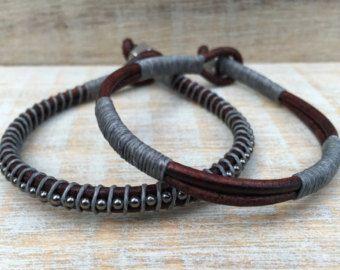 Guys Bracelet Mens Bracelet Leather Wrap Bracelet Mens