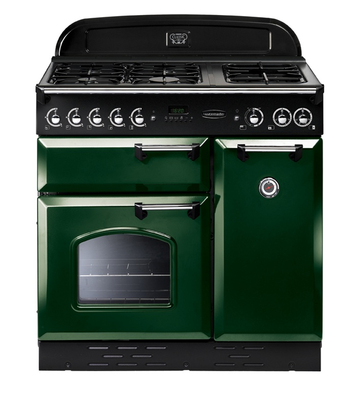 Freestanding Range Cookers Uk Part - 27: The Smart Black Rangemaster Classic 90 Dual Fuel Range Cooker Offers Two  Large Cavities And A Generously Proportioned Gas Hob To Handle All Kinds Of  ...