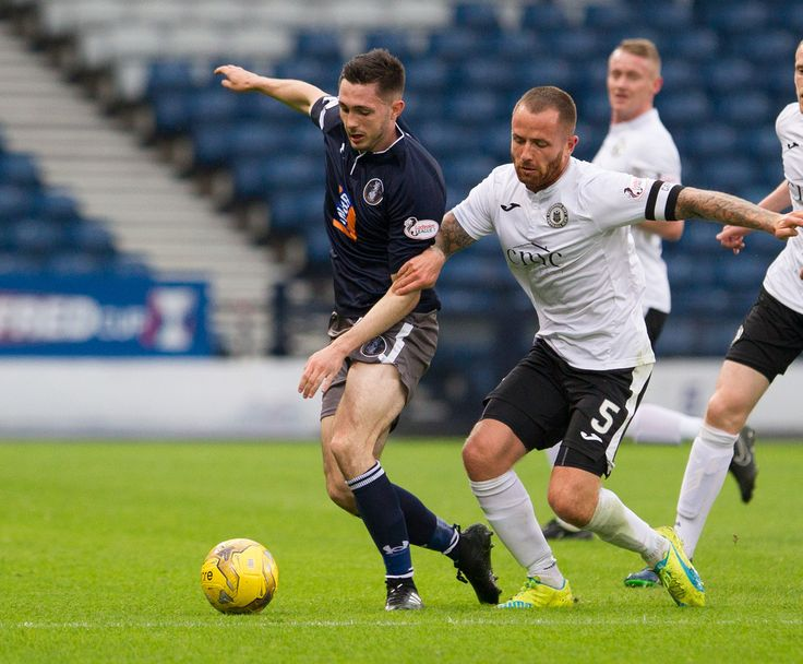 Queen's Park's Thomas Orr in action during the Betfred Cup game between Queen's Park and Edinburgh City