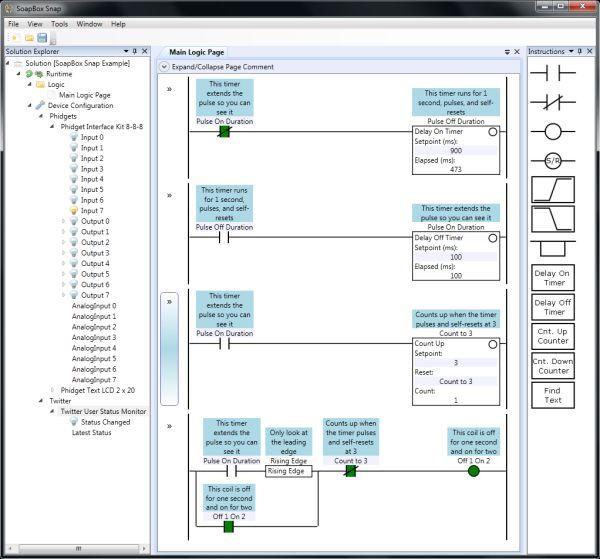 SoapBox  PC based Ladder logic