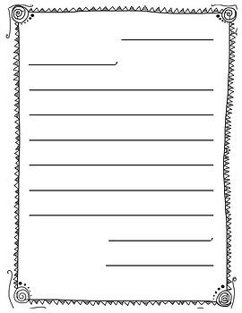 this download is a blank template for writing letters in primary grades border created by