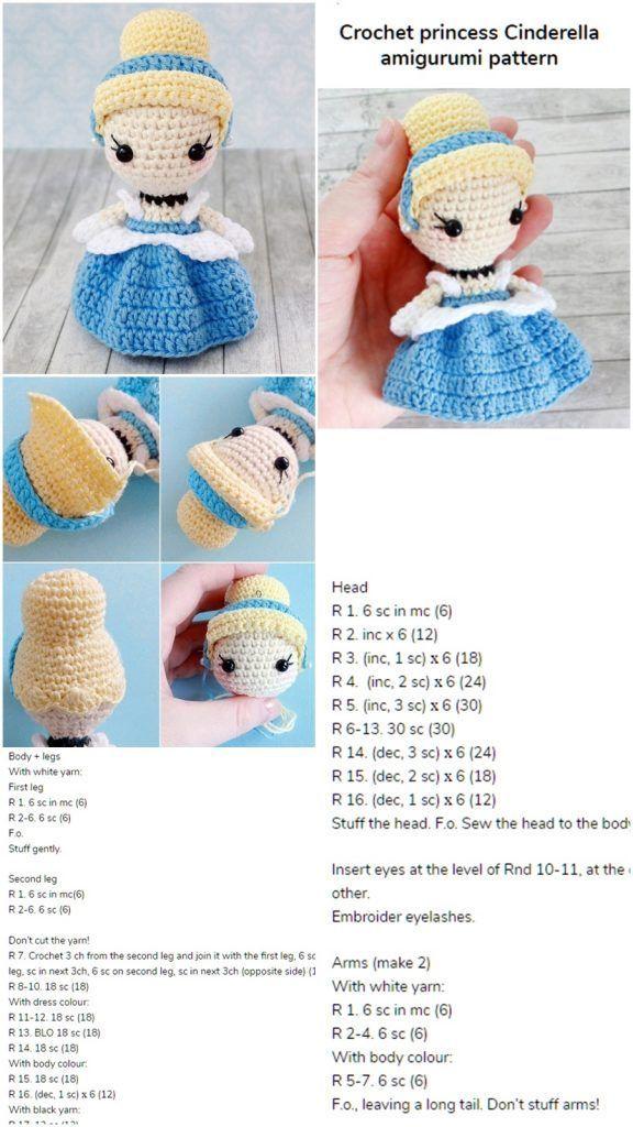 Princess Free Pattern Crochet Disney Krose Amigurumi Modelleri