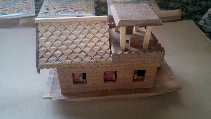 """Kashmiri Mini House Boat(10"""")"""