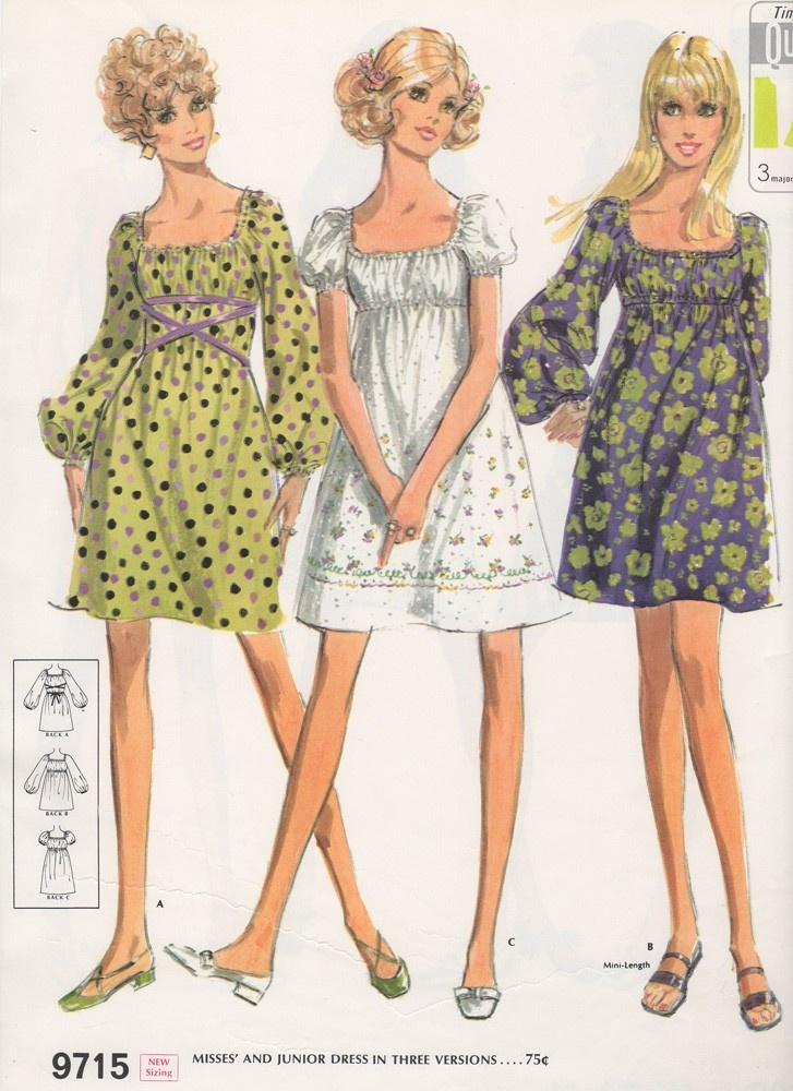 1969 Fashion Illustrations McCalls