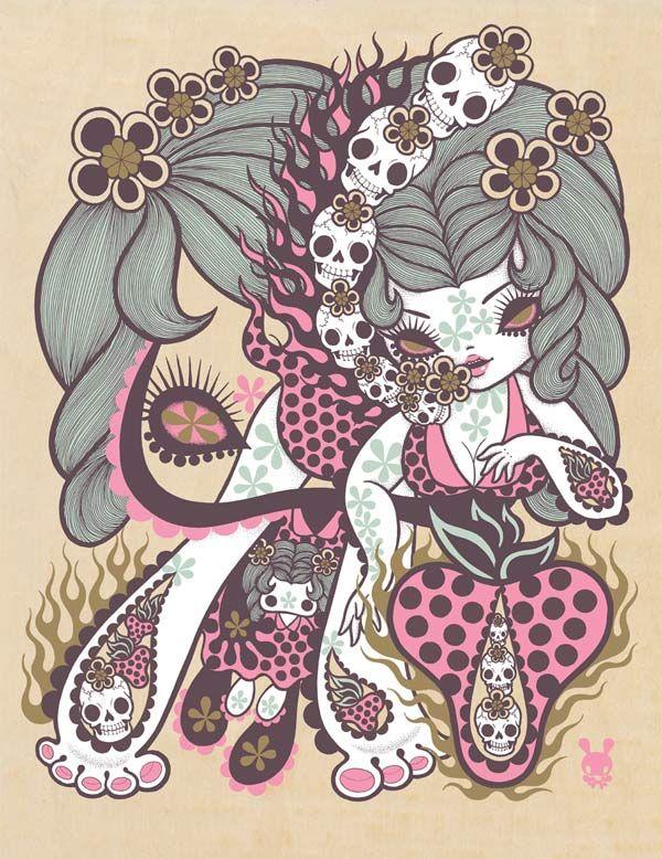 Hi-Fructose Exclusive Junko Mizuno Print at SDCC - need!!: Art 33, Mizuno Sdcc Woods Prints Jpg, Junko Mizuno, Inspiration Illustrations, Artsy Fartsi, Mizuno Junko, Junkomizuno, Amazing Artists, Mizuno Art