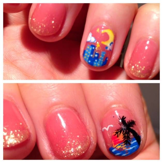 I Got A Calgel Manicure And Adorable Nail Art From An Actual Painter