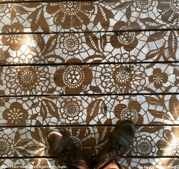 Floor Tile Paint Yes You Can Paint Floor Tiles Here S: 309 Best Images About Stenciled & Painted Floors On