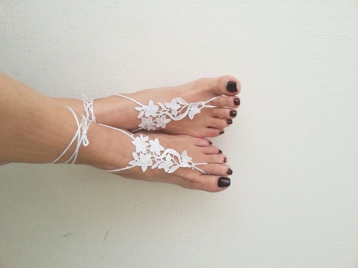 For going barefoot on your wedding day... but you don't have to do it completely! and theyre only 15 bucks, not bad for handmade crochet