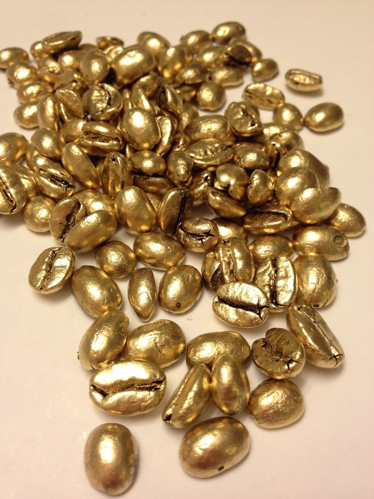 Great Idea Spray Paint Coffee Beans In Gold Rose Gold