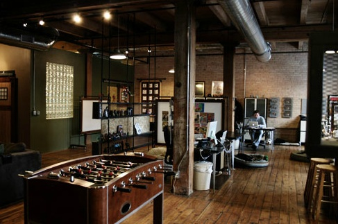 A little dark but nice antique feel and cool foosball