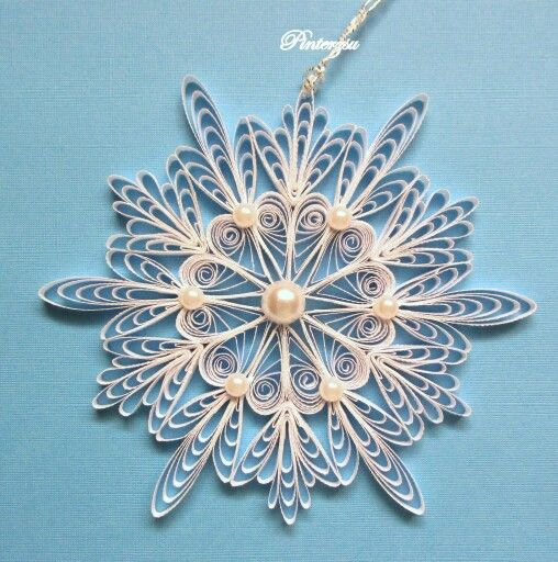 545 Best Images About Quilled Snowflakes On Pinterest border=