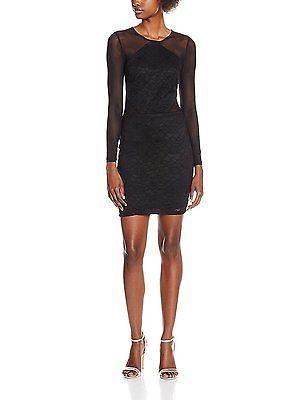 10, Black (Black), MISS SELFRIDGE Women's Mesh Bodycon Dress NEW
