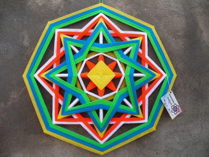 Mandala de 8 puntas 50 cms aprox. DISPONIBLE <3  Valor: $12.000 Si retiras en Einstein o Dorsal: $10.500