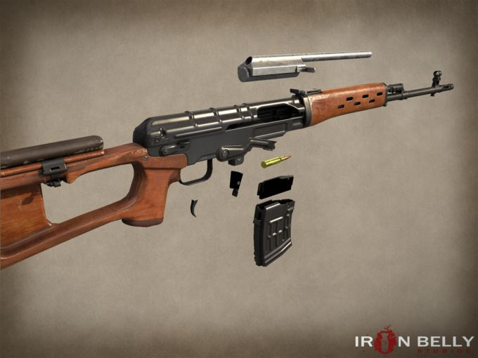 AAA SVD Dragunov Sniper Rifle by Ironbelly Studios on @creativemarket