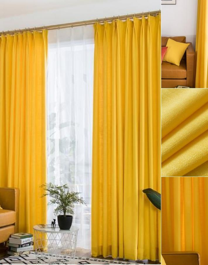 Vibrant Lemon Yellow Curtains Polyeaster Cotton in 2019 ...