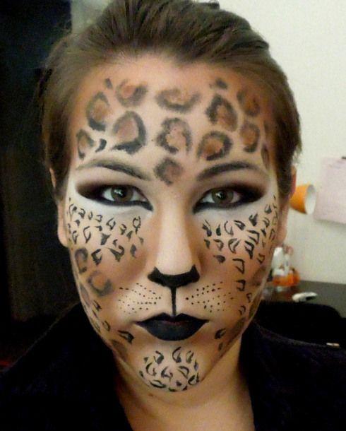 die besten 17 ideen zu leopard schminken auf pinterest. Black Bedroom Furniture Sets. Home Design Ideas