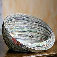 recycled paper bowl...LOVE