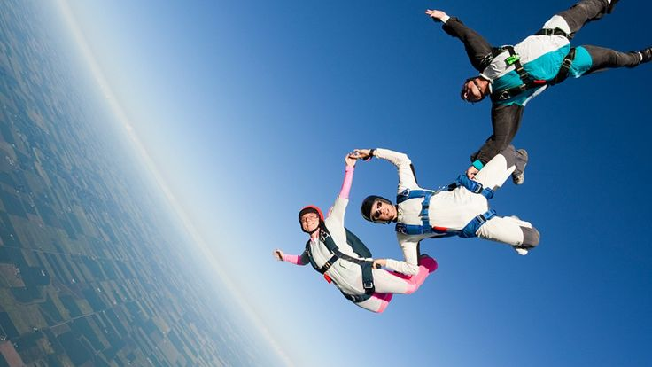 skydivers freefall busch