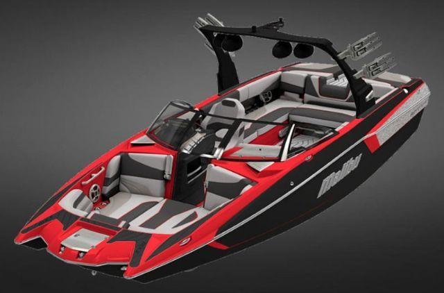 24.4 feet  2017 Malibu Boats 24 MXZ Ski and Wakeboard Boat , Black / Red / Silver Machine Metallic for sale in Oregon City, OR