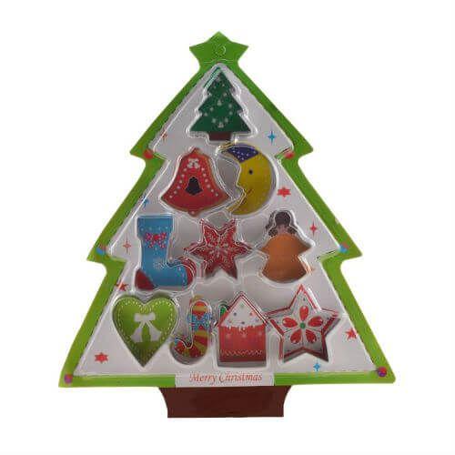 10 db-os karácsonyi fém sütikiszúró készlet