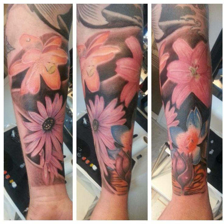 nice half flower sleeve im working on