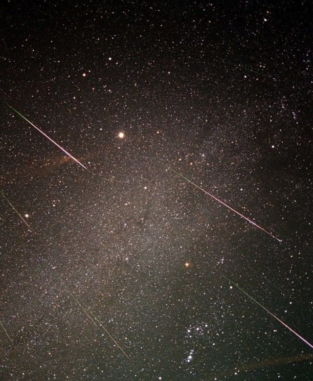 A shot of the Leonid Meteor shower.