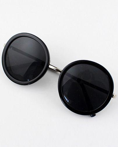 Black Round Lenses Sunglasses pictures