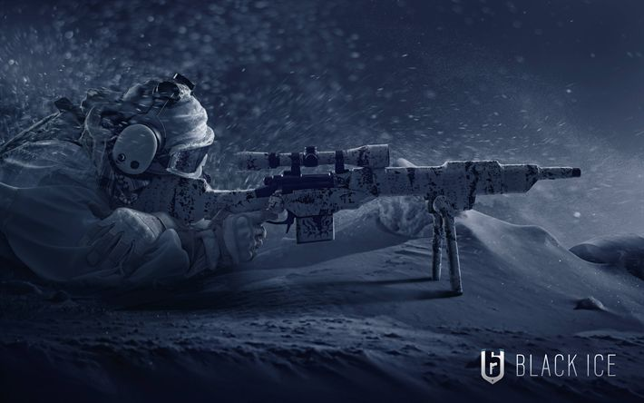 Download wallpapers Rainbow Six Siege Operation Black Ice, 4k, poster, 2018 games, Tom Clancys
