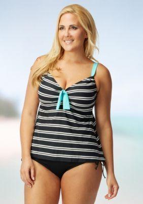 Beach House Woman  Plus Size Cape Cod Adjustable Tankini