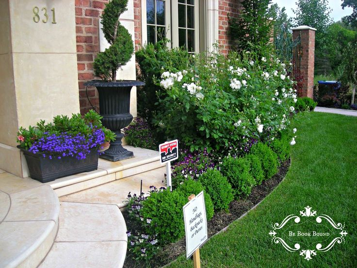 Flower beds front yard home design ideas dokity garden for Garden in front of house