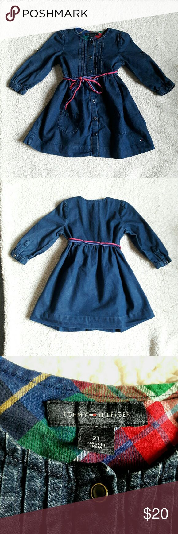 Tommy Hilfiger Girls Dress Adorable little girls denim dress.  Great condition--no stains, holes or tears. Tommy Hilfiger Dresses Casual