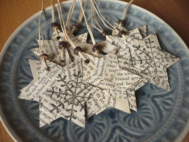 Mein Fenster zur Welt: Aus Altpapier werden Geschenkanhänger - Weihnachtsmarathon 4/4