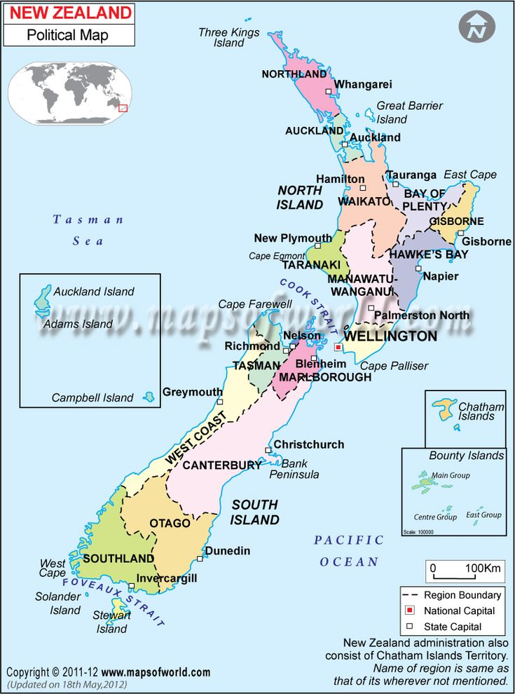 New Zealand North Island Airports Map