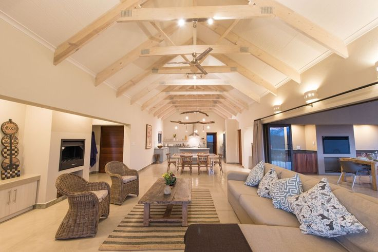 The lounge - walls have been painted in Midas Envirolite Midafelt 225 - SOUTHERN RIGHT. Ceilings have been painted in Midas Envirolite Midafelt 225 - TACKROOM WHITE. The wooden beams have been covered with two coats of Woodcote Water-Based Wood Treatment, tinted in 150% WHITE.