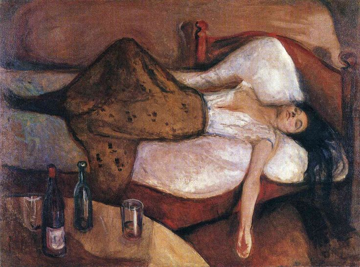 The Day After - Edvard Munch, 1894-1895. Expressionism. National Gallery, Oslo