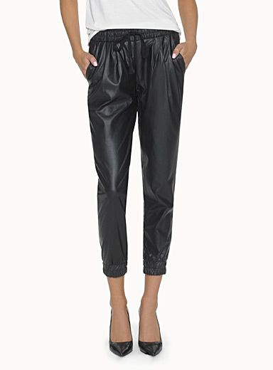 Icone Faux Leather Joggers from Simons.