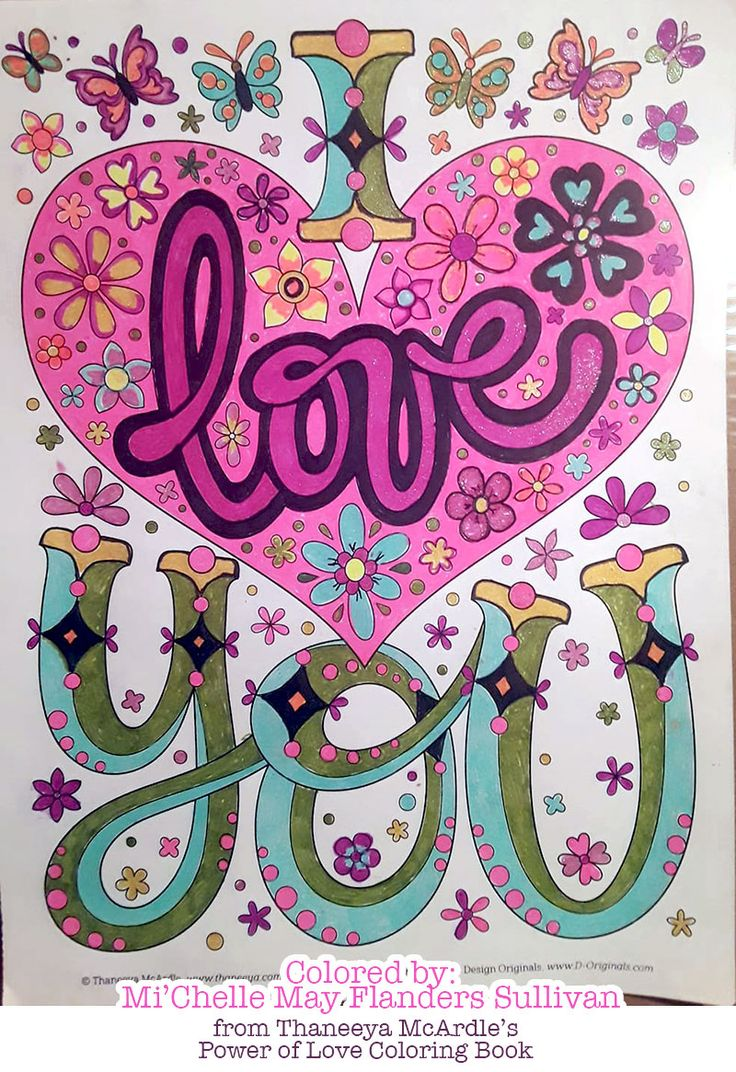 Quot I Love You Quot Coloring Page From Thaneeya Mcardle S Power
