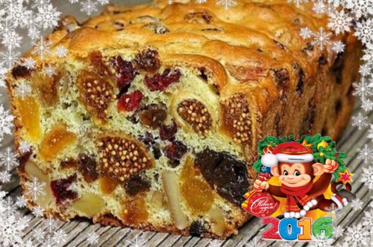 Cupcake of dried fruits. Christmas and New Year recipes.