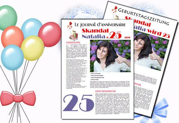 Geburtstagszeitung ist eine persönliche und originelle Geschenkidee zu jedem Geburtstag. Jetzt unkompliziert mit online Publisher gestalten.