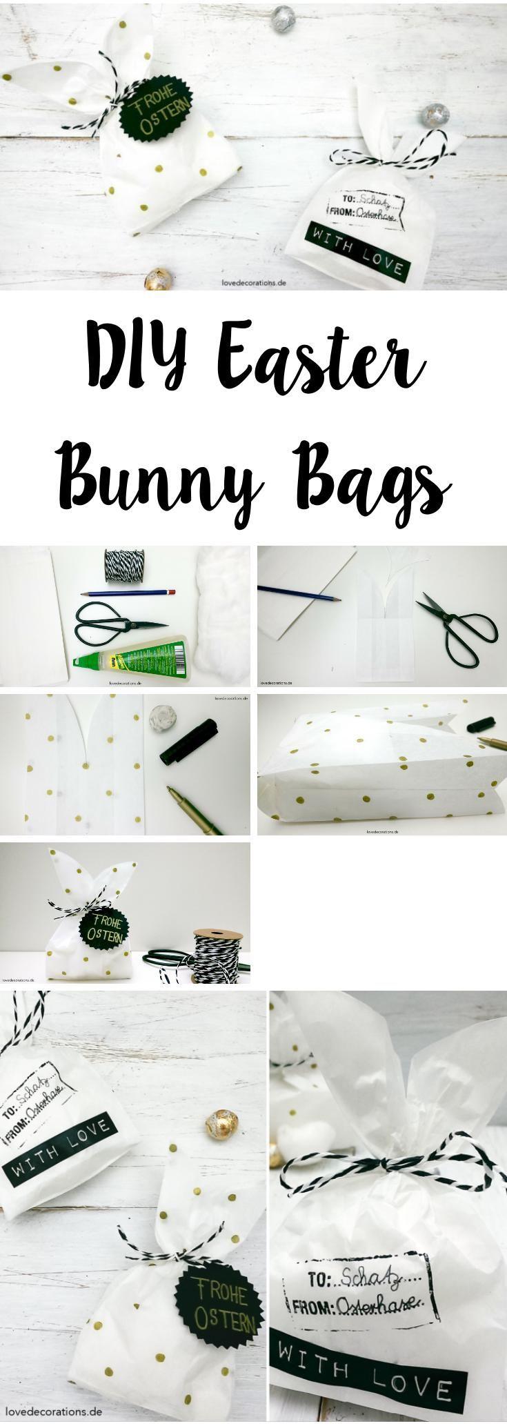 DIY Osterhasen Tüten   DIY Easter Bunny Bags