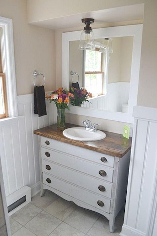 Vintage Bathroom Decor Ideas With Old Dresser