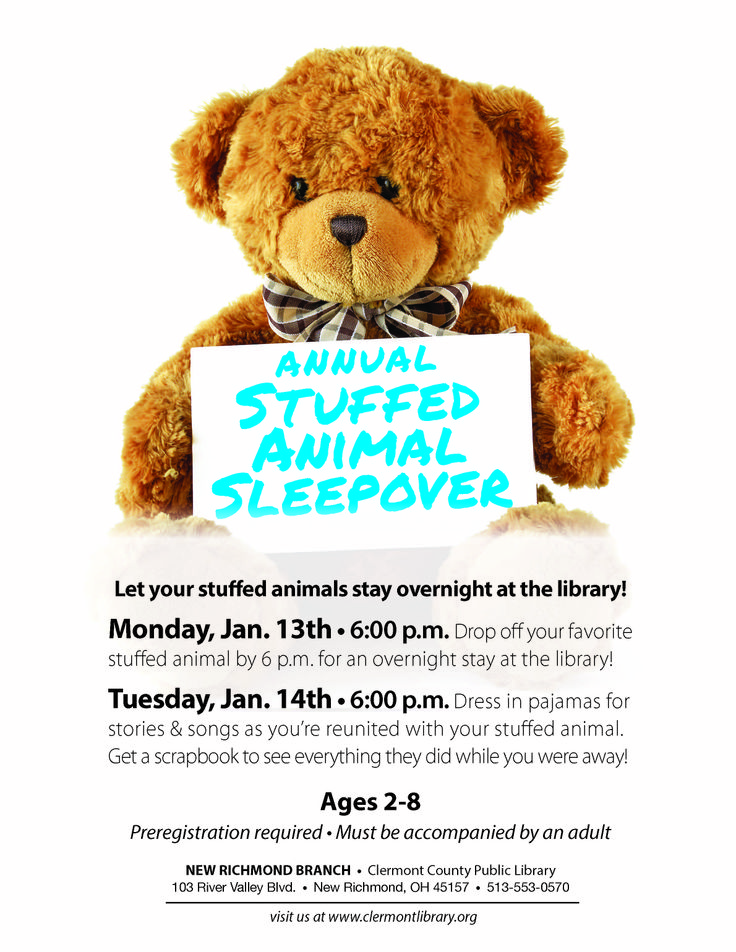 35 best library ideas teddy bear sleepover images on pinterest its a stuffed animal sleepover at our new richmond branch fandeluxe Ebook collections