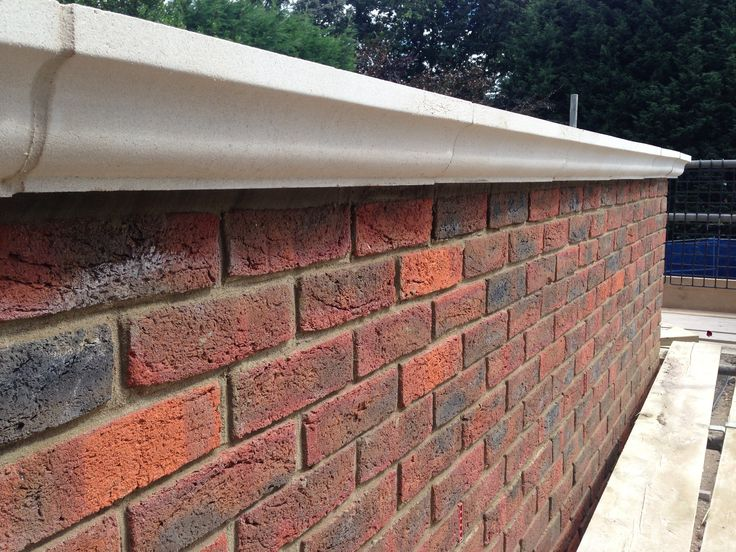 Parapet Wall Topped With Coping Stones Rendering In